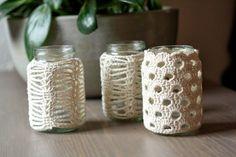 Woolbunnies: Cozy crochet jar candle cozies