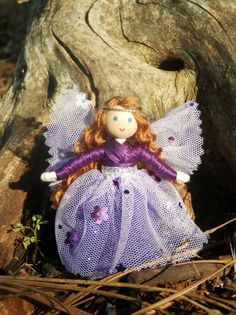 Purple Sparkle Fairy Doll Made in America – Wildflower Innocence Toys