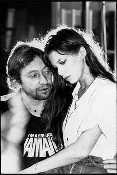 Jane Birkin and Serge Gainsbourg so lovely
