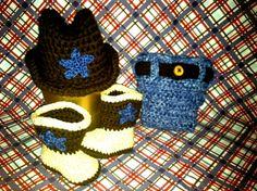 Lil Buckaroo Newborn Crochet Cowboy Photo by BaaBaaBabyBoutique, $75.00