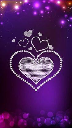 Heart (On Purple BG) - Wallpaper iPhone