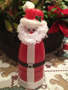 Santa coffee creamer bottle