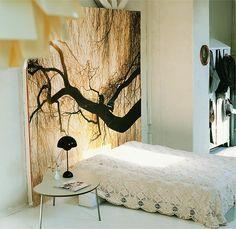 elegantly modern bedroom.: love this crocheted bedspread, via emma's design blog.