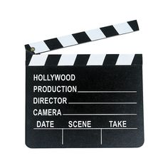 "Write a title like ""The Beginning of Us"" on the table with seating cards.  Directors Clapboard - OrientalTrading.com"
