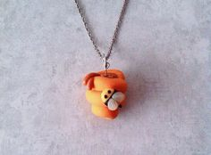 #Beehive #necklace polymer clay by FlowerChildCharms on Etsy