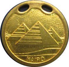 Ficha: Kairo (Egito) (Souvenirs) Col:EGY-PUB-0001