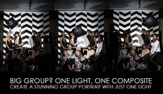 Big Group? One Light, One Composite – Create A Stunning Group Portrait With Just One Light
