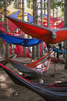 ENO hammock party! Awesome.