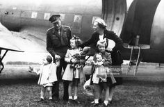 NETHERLANDS - circa 1940: Princess Juliana and Prince Bernhard with their children Margriet, Beatrix and Irene back in the Netherlands after their period spent in Canada during the Second World War, circa 1940 in the Netherlands.