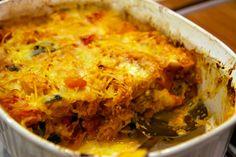 """Spaghetti Squash Cheesy Veggie """"Pasta"""" Bake"""