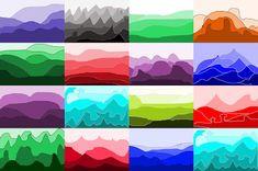 Paper value landscapes - 10 min project for older kids. Darkest up front, lighter as progress back.