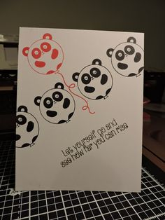 Crafting While the Baby Naps: Panda Balloons - Muse Challenge #140
