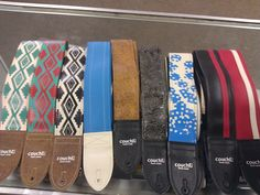 COUCH guitar straps are awesome! They are handmade right in LA. They are 100% animal friendly. Thats right, they're VEGAN. They find old textiles and up-cycle them. They use materials like vinyls that were intended for use in automobiles and make limited run batches of straps with them. Stop in and check them out.