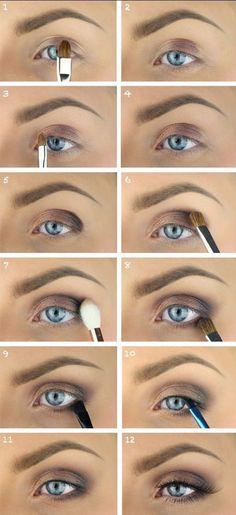 Nude brown eyeshadow for blue eyes