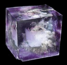 Fluorite Locality: Yaogangxian Mine, Yizhang County, Chenzhou Prefecture, Hunan Province, China (Locality at mindat.org) Size: 2.1 x 2.0 x 2.0 cm. A fine gem cube, just like a study in symmetry, with sharp phantoms inside.