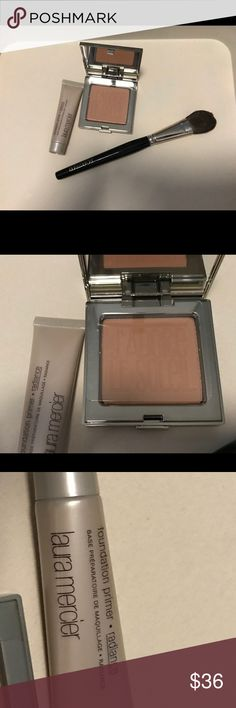 Makeup Matte Special Edition Bronzer, with brush. A deluxe sample radiance primer. laura Mercier Makeup Bronzer