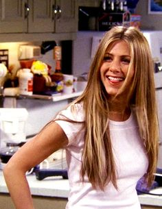 Rachel Green/Jennifer Aniston #friends Her super long hair was my favorite. I LOVE her long hair!!