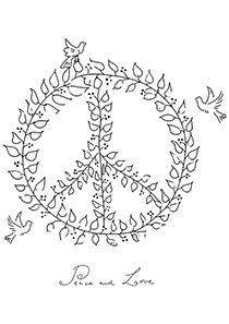Dove Peace Symbol Sketch