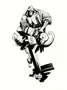 Amazing Art: Celebrating 20 Years of Mike Mignola's Hellboy Comic Book Artists, Comic Artist, Comic Books Art, Mike Mignola Art, Science Fiction Art, Comic Styles, Comic Character, Character Concept, Character Design References