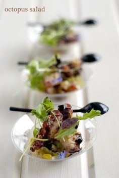 #tapas  Octopus Salad #plating #presentation