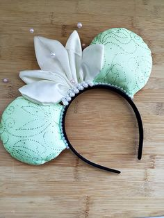 Hey, I found this really awesome Etsy listing at https://www.etsy.com/listing/287502237/tiana-minnie-ears-princess-and-the-frog