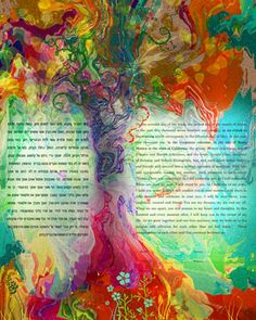 ketubah - Mara - love it bright so when you frame it - it looks great on the wall!