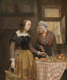 Theodor Canneel: Die Obstverkäuferin, 1847