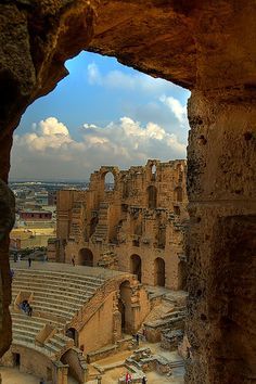 El Djem, #Tunisia-Really cool Roman Colosseum in Tunisia...very well preserved.