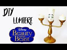 DIY: COMO FAZER UM LUMIÈRE de A BELA E A FERA (Beauty and the Beast Tutorial) #diydisney - YouTube