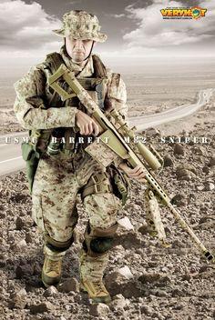 Very Hot USMC Barrett M82 Sniper (850×1271) - http://onesixthscalepictures.blogspot.fr/2012/01/very-hot-usmc-barrett-m82-sniper.html