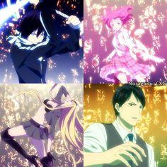 Noragami Aragoto // Yato, Kofuku, Bishamon and Ebisu