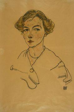 Egon Schiele, Portrait of a Woman (Lilly Steiner) (1918)