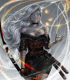 Snowfall (art has 5 versions). by TattiArt on DeviantArt Female Character Concept, Character Art, D D Characters, Fantasy Characters, Fantasy Girl, Dark Fantasy, Elves Fantasy, Digital Art Anime, Digital Art Fantasy