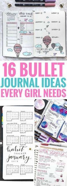 journal ideas layout weekly easy 16 Best Bullet Journal Ideas Every Girl Needs These bullet journal ideas are the BEST! They& really helpful for organizing your life and keeping track of your goals. My favorites are the weekly and monthly spreads. Bullet Journal Planner, Bullet Journal Hacks, Bullet Journal Spread, Bullet Journal Layout, My Journal, Journal Pages, Bullet Journal Printables, Bujo, Journal Inspiration