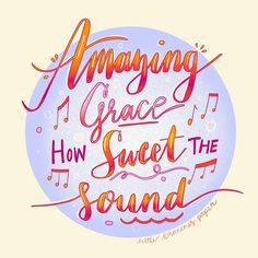 """Little Branches Paper on Instagram: """"#inktober2019 Amazing Grace - it's a classic and for sure one of my fave gospel songs. This was super fun to make and I feel like my…"""" Amazing Grace, Branches, Christian, Songs, Feelings, Paper, Classic, Illustration, How To Make"""