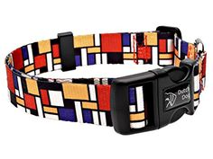 Dutch Dog Amsterdam Eco Friendly Mondrian Dog Collar 1520Inch Medium -- You can get additional details at the image link.(This is an Amazon affiliate link and I receive a commission for the sales)