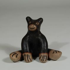"#adobegallery #CochitiPuebloPottery #SouthwestIndianPottery - Cochiti Pueblo Seated Black Bear Figurine. Guadalupe Ortiz (1929-2015) #GuadalupeOrtiz Category: #Figurines Origin: #CochitiPueblo Medium: clay, pigment Size: 3-3/4"" height x 3-1/4"" depth x 4-1/2"" width Item # C3688.74"