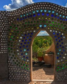 Earthship Wall Under Construction: