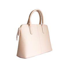 Serafina Italian Pink Leather Dome Handbag - £54.99