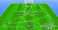Ejercicio de fútbol: cambio de orientación - XOZZER