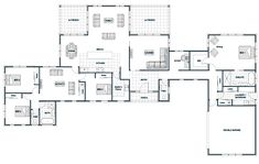 Top Home Interior Design House Plans One Story, New House Plans, Dream House Plans, House Floor Plans, Dream Home Design, Modern House Design, Mansion Homes, 4 Bedroom House Plans, Villa