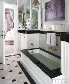 Copious marble and lavender accents.