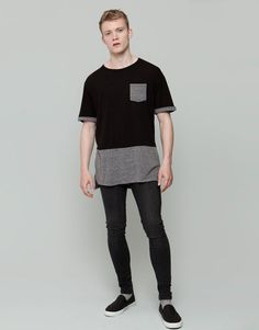 Pull&Bear - hombre - camisetas - camiseta print oversize - negro - 09240578-I2015