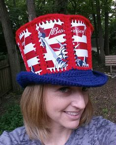 856bb201ce2 Beer can crochet hat Fishlipsthemadhatter on facebook