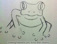 how to draw a red eyed tree frog