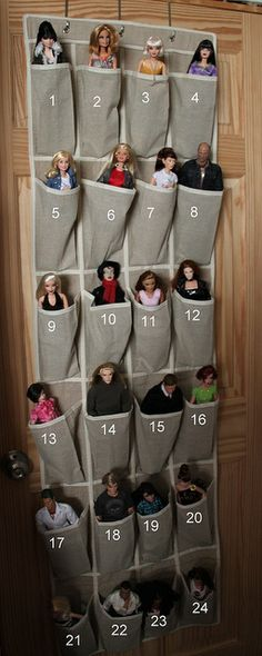 Doll storage by Stuffbymichele, via Flickr