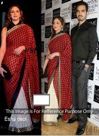 Exceeding Esha Deol Multi Colour Designer Contemporary Style Saree