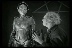 Classic scene from Metropolis-Rotwang and his mechanized woman