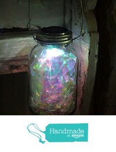 Fairy Mason Jar Solar Powered Lantern, Fairy Light, Mason Jar Solar Light Lantern, Firefly Lantern from The Appalachian Artisans https://www.amazon.com/dp/B018JYL2QO/ref=hnd_sw_r_pi_dp_yvJ.yb41RC642 #handmadeatamazon