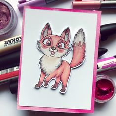 I did this coloring today using one of my brand new digistamps. I dont know why but i just had to colour it pink! (Charlies stamps on Etsy) Colouring Pages, Coloring, Pink Fox, Shake It Off, Digi Stamps, Copic, I Got This, My Images, Etsy Seller